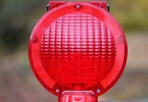 červené svetlo